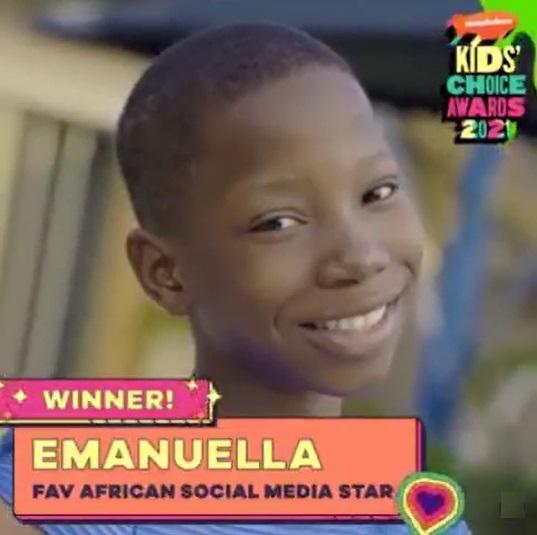 Emmanuella beats Ikorodu Bois, wins Nickelodeon's 'Favorite African Social Media Star' award