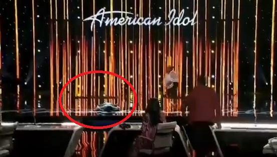 Moment American Idol contestant, Funke Lagoke fainted on stage while being judged (Video)