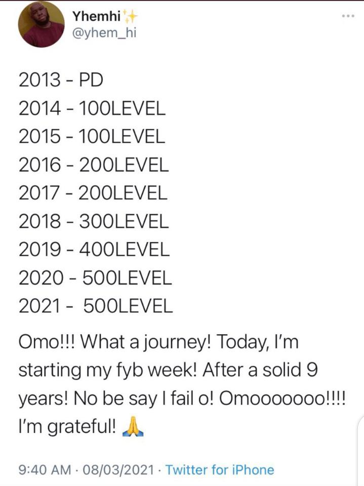 Twitter User 9 Years