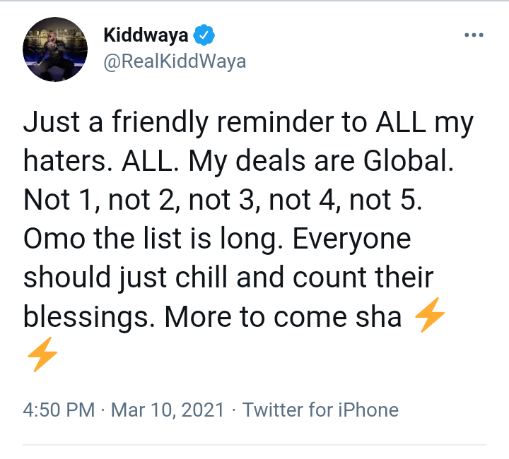 Kiddwaya Message Haters Strong
