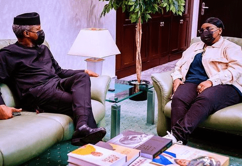 Teni visits VP Osinbajo