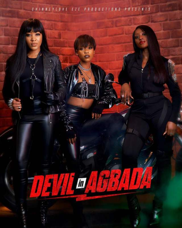 Erica Nlewedim Features in New Action Movie Alongside Linda Osifo, Efe Irele, devil in agbada
