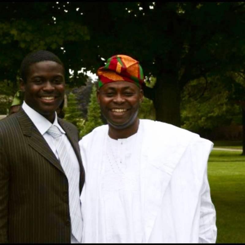 Davido's brother, Adewale celebrates father on his birthday