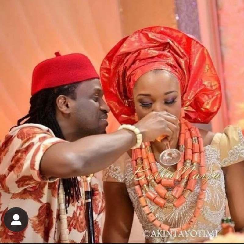Paul Okoye celebrates 7th wedding anniversary with wife, Anita