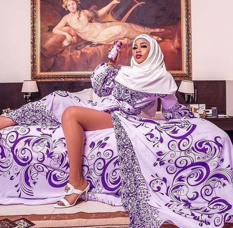 """I will do another in extremely revealing way"" - Toyin Lawani says as she poses in hijab"