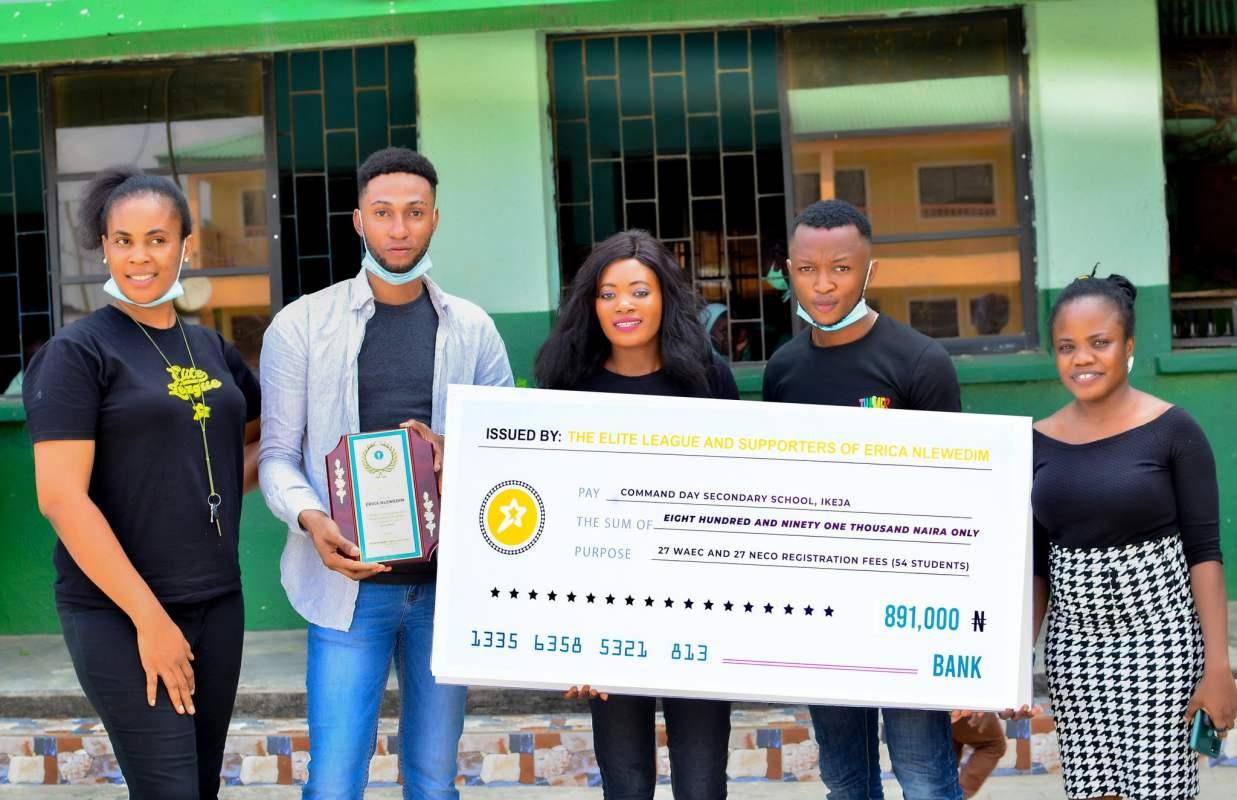 Lagos Elite donates N891K to Erica's secondary school in celebration of her birthday