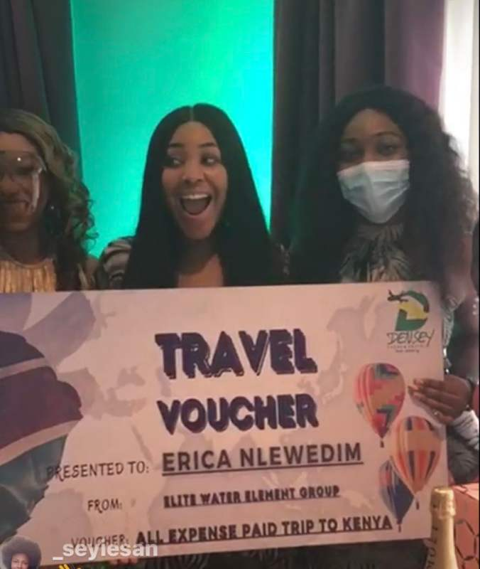 Fans gift Erica international stock worth N3.8M, plus all expense paid trip to Kenya