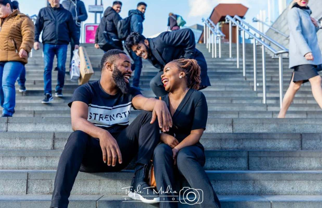 Comedian, Woli Arole releases pre-wedding photos with lover, Yemi