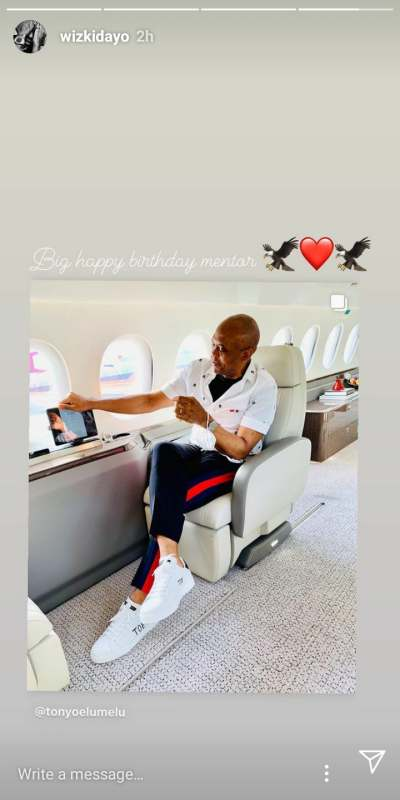 Wizkid celebrates billionaire, Tony Elumelu on his 58th birthday