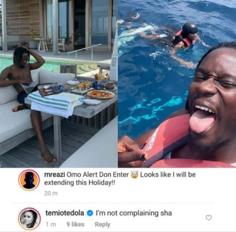 """Alert don enter"" - Mr Eazi says as he intends to extend romantic holiday with Temi Otedola"
