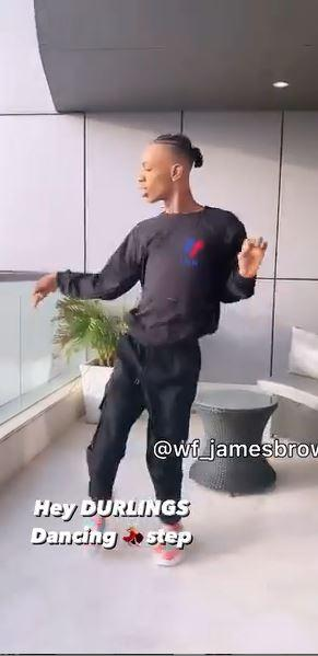 James Brown dance move 'Hey Durling'