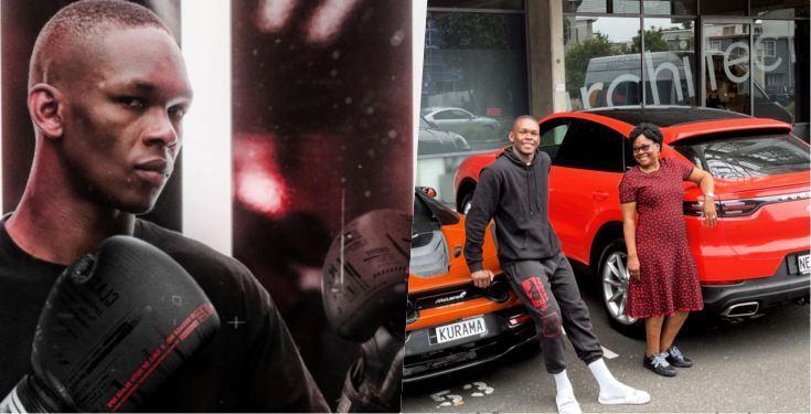 Martial artist, Israel Adesanya surprises mother with new Porsche car