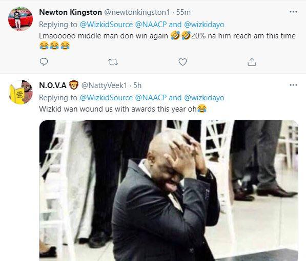 """""""Wizzy wan wound us with awards this year"""" - Reactions as Wizkid wins NAACP Image Award"""