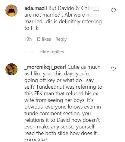 Blogger dragged for misquoting Tunde Ednut's post as Davido, Chioma's alleged divorce