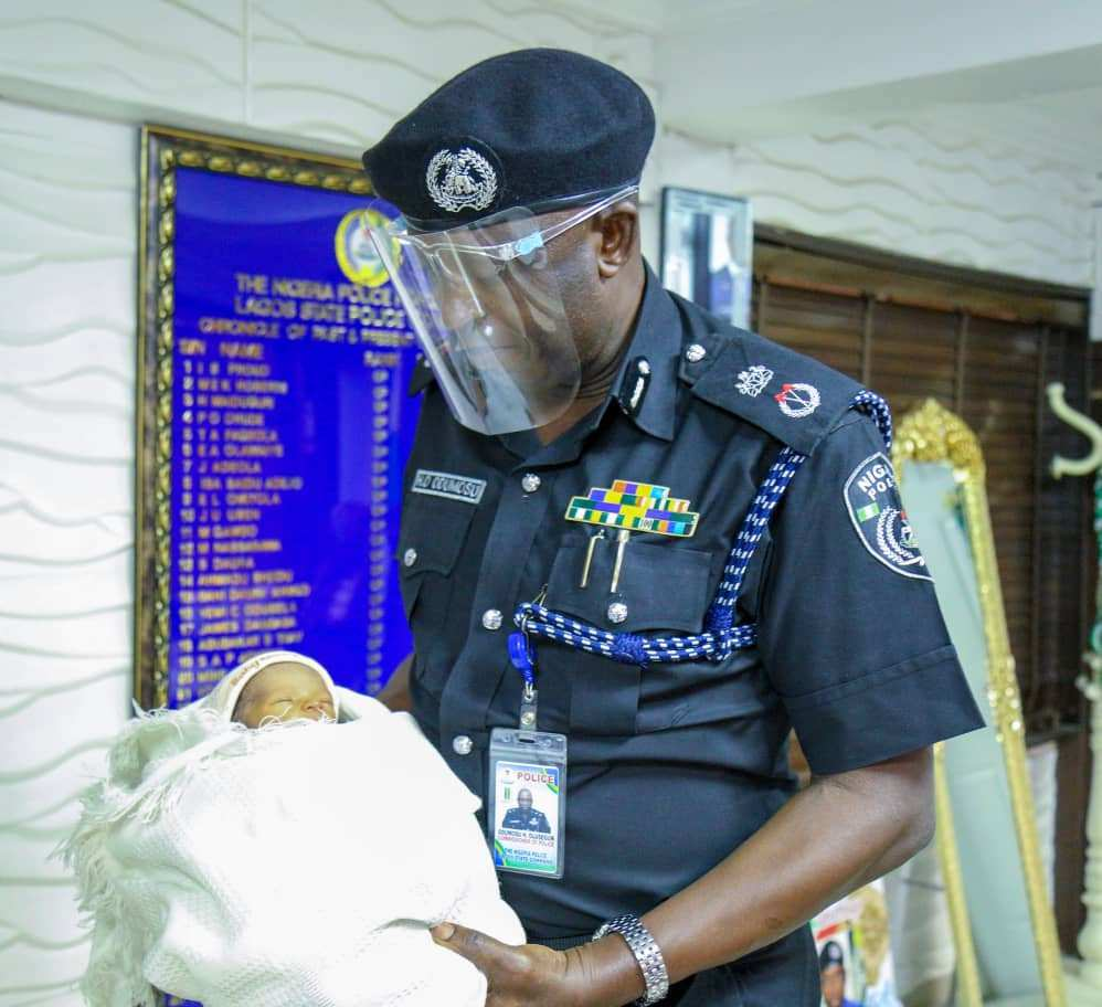 Police rescues abandoned day old baby in Oko Oba area of Lagos