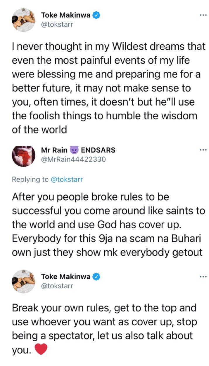 """Use whoever you want as cover up"" - Toke Makinwa blast man who accused her of using illegal means to accumulate wealth"