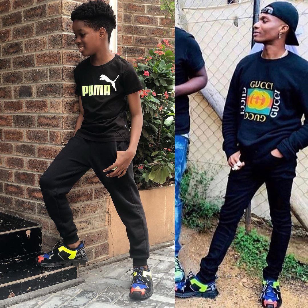 Boluwatife shoes Wizkid son
