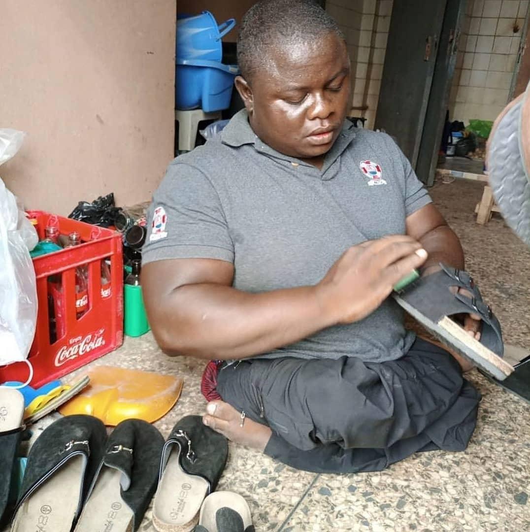 Junior Pope Physically challenged shoemaker birthday