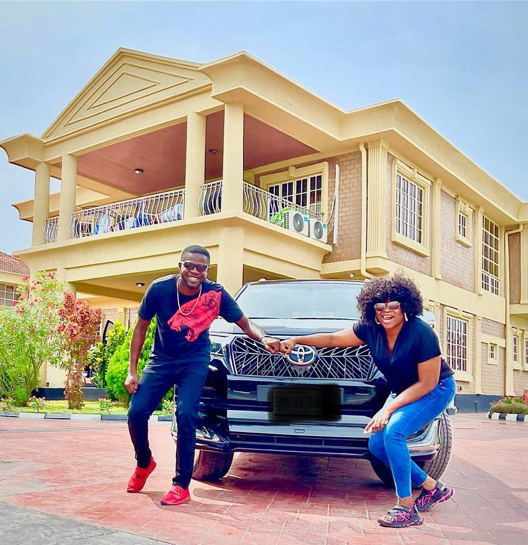 Funke Akindele JJC Skillz New Car