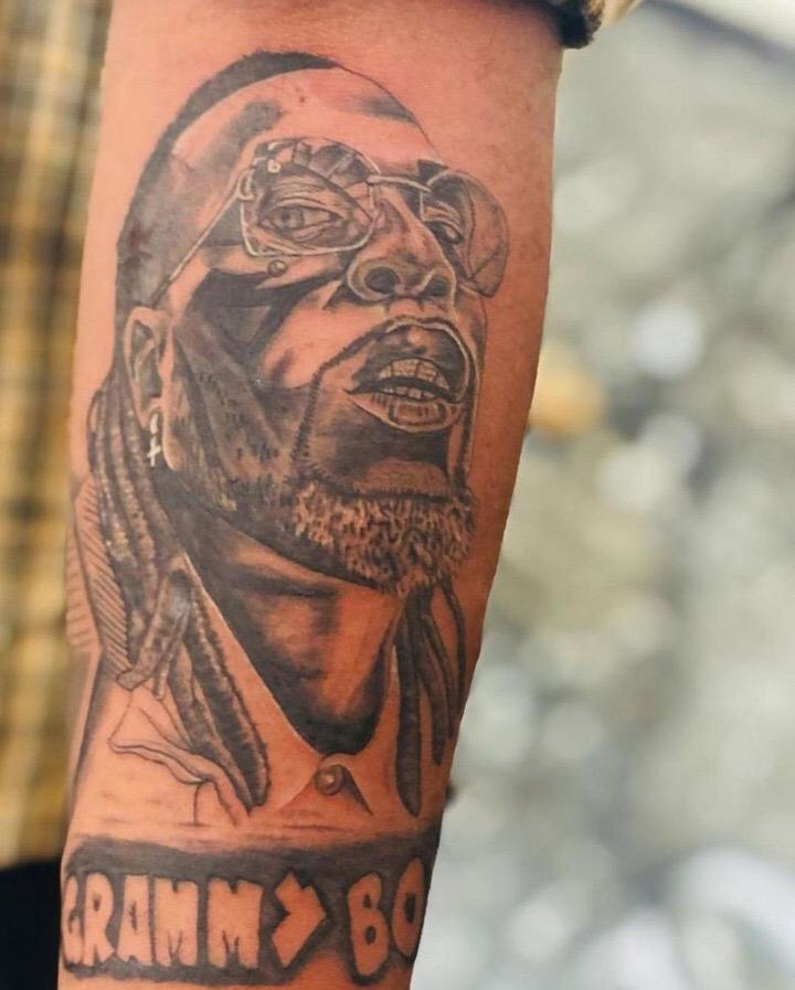 Burna Boy Tattoo Grammy