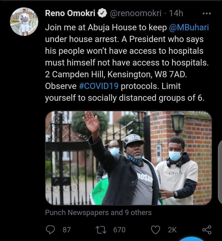 Reno Omokri Buhari arrest