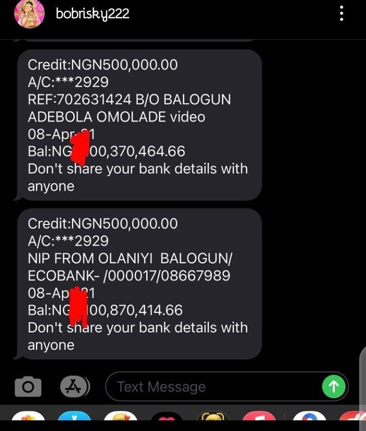 Bobrisky billion account bank