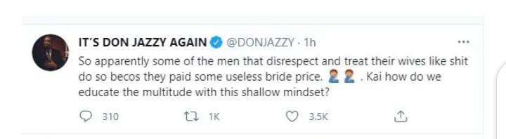 Don Jazzy bride price