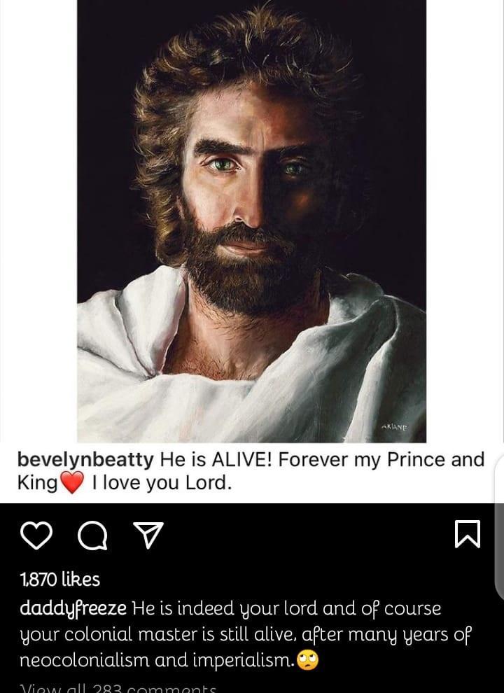 Daddy Freeze mocking Jesus