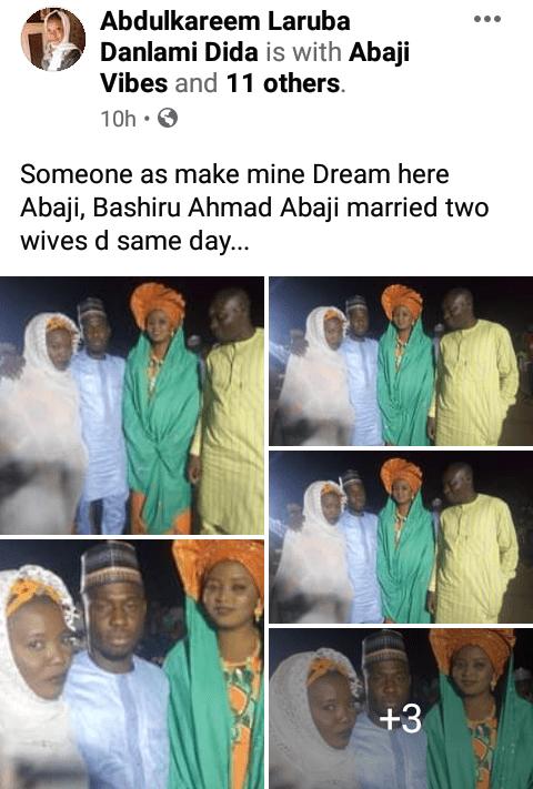 Man marries two women Abuja