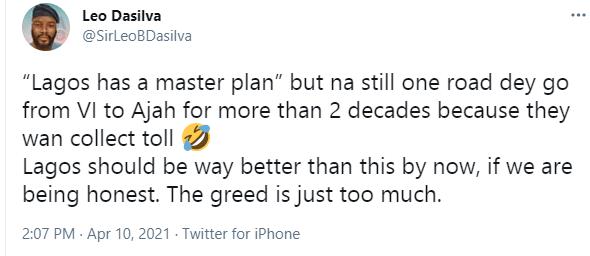 Leo Dasilva Lagos plan