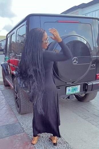 BBNaija's Mercy Eke show off her new G-Wagon Mercedes Benz