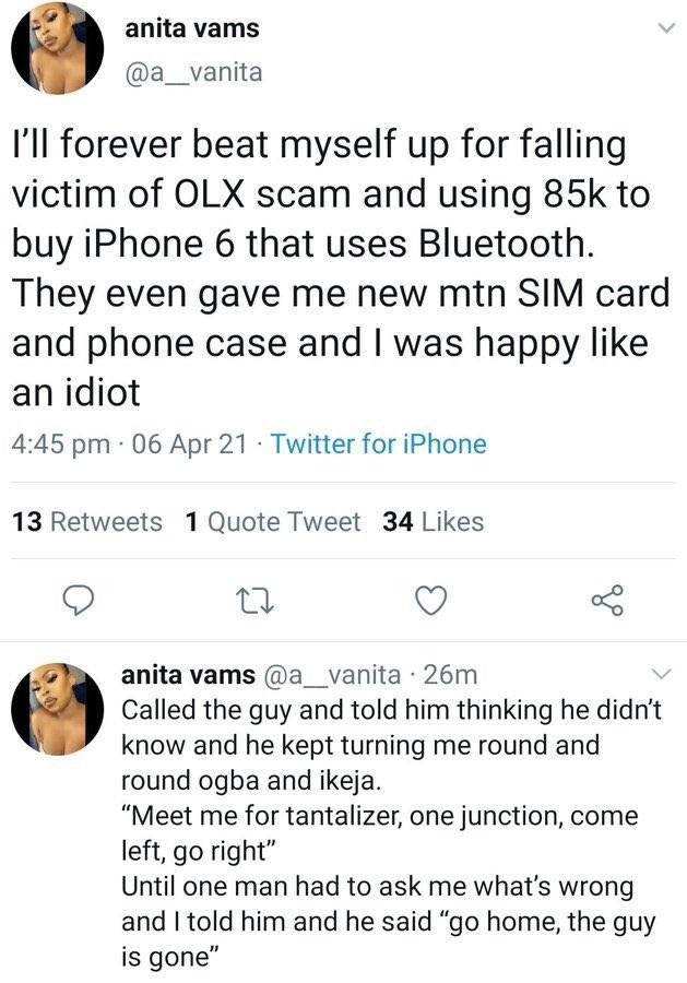 iPhone Olx Bluetooth scam