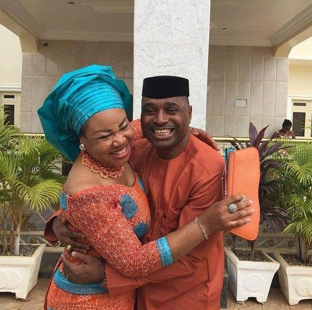 Kenneth Okonkwo wife celebrate