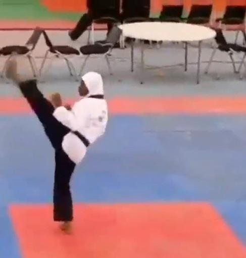 8-months pregnant athlete wins Gold medal in Taekwondo at Edo 2020 (Video)