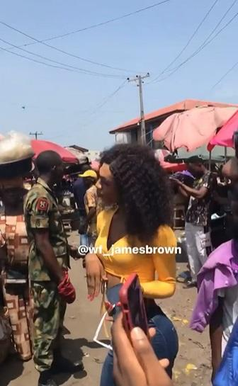 """They should be arrested"" - Reactions as soldiers escort James Brown to market (Video)"