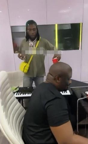 Burna Boy and Don Jazzy spotted in the studio making music (Video)