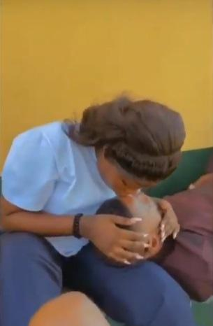 """""""Nothing is wrong with this"""" - Reactions as lady shows off loved-up video with sugar daddy"""