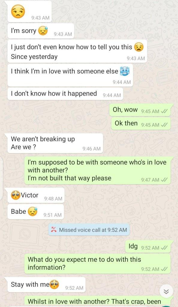 Lady in trouble after pranking boyfriend on being in love with someone else