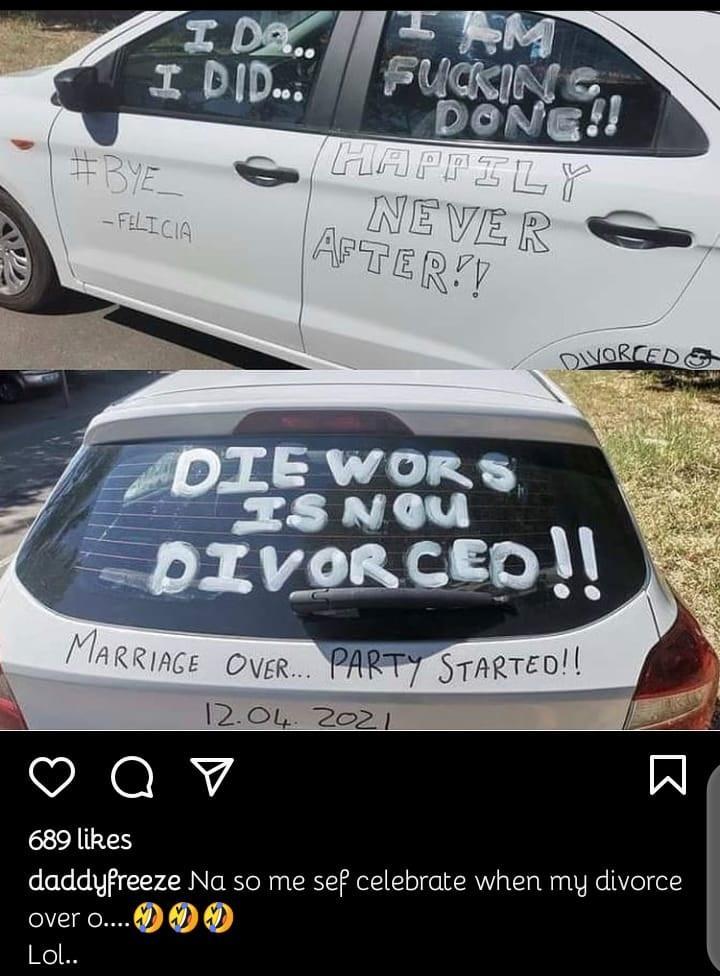 Daddy Freeze divorce