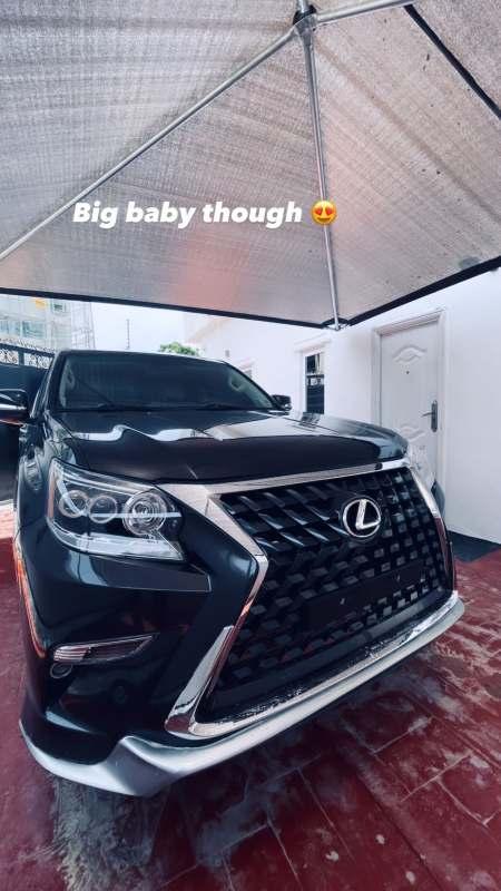 Skiibii gifts himself a brand new Lexus SUV worth millions of naira
