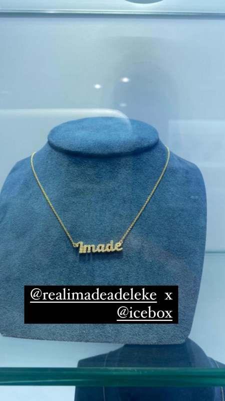 Davido gifts daughter, Imade customized pendant worth millions of naira