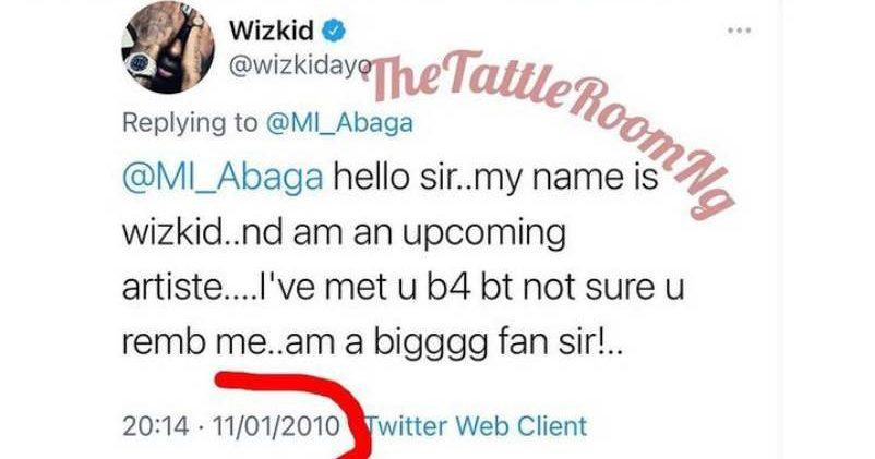 """""""Tables really turn"""" - Reactions as tweet of Wizkid from 2010 begging M.I resurfaces"""