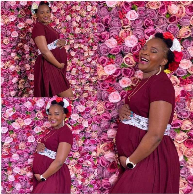 42-year-old woman celebrates pregnancy after years of childlessness