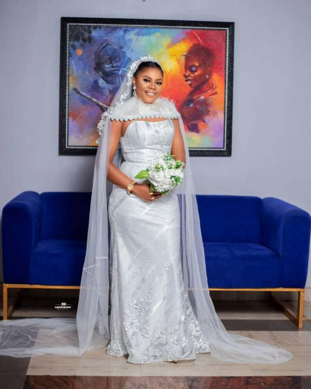 Bride appreciates BBNaija star, Alex Unusual for inspiring her wedding dress