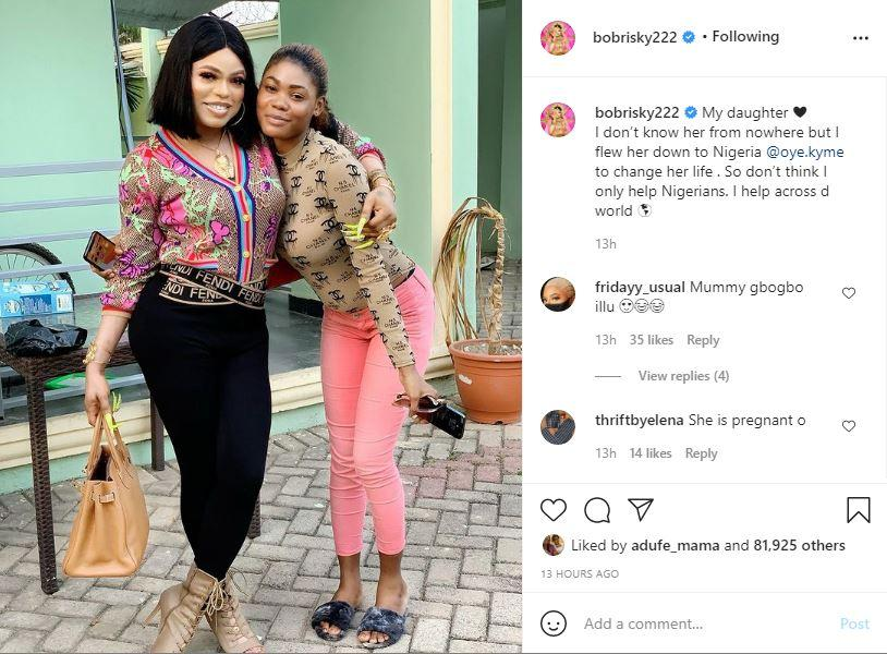 Bobrisky daughter photo country