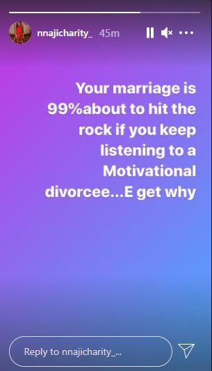 Charity Nnaji Motivational divorcees