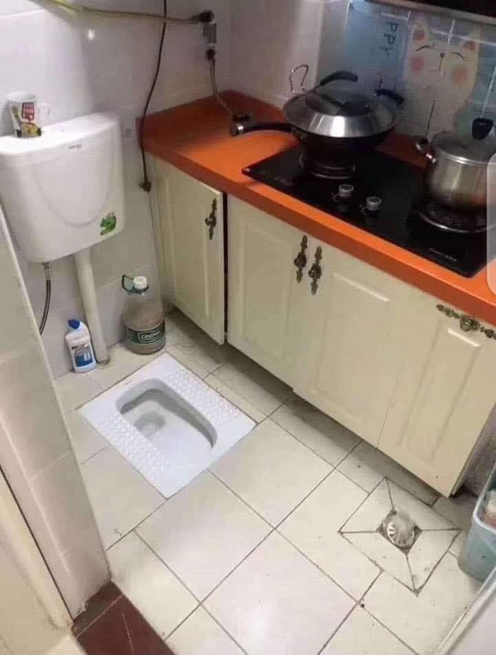 Kitchen Bathroom single space Twitter