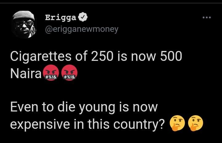 die young Erigga Nigeria