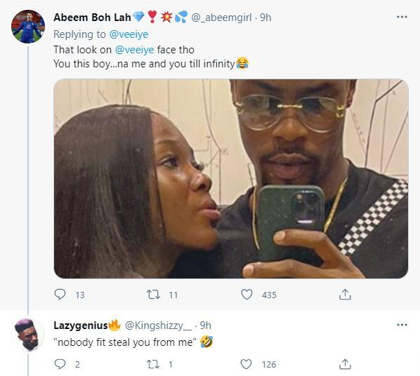 """""""Relationship is stressful but this one ain't one of them"""" - Reactions as Vee shares loved up photo with Neo"""