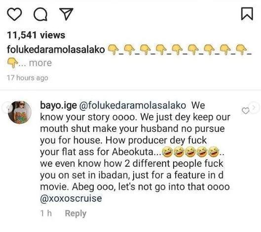 Foluke Daramola sleeping producers